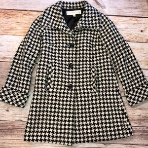 Trina Turk Houndstooth Winter Coat Size 2